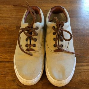 Ralph Lauren Canvas & Leather Sneakers